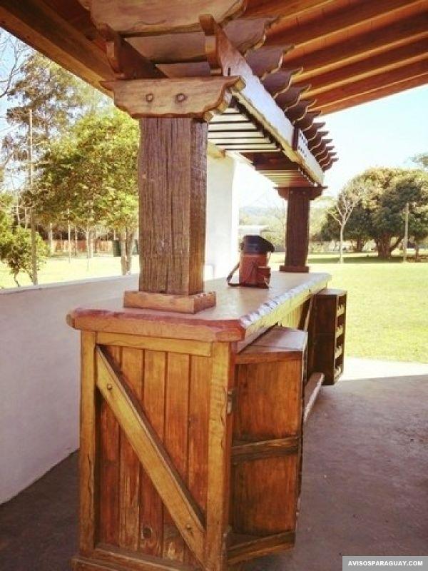 Remato mueble tipo bar rústico - Mobiliario en Caacupé